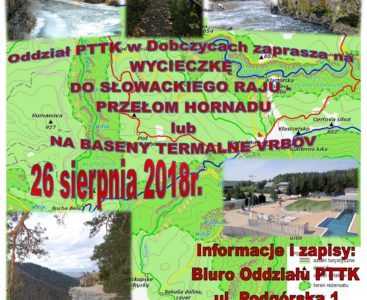 Słowacki Raj/ Kąpieliska Termalne Vrbov 26.08.2018